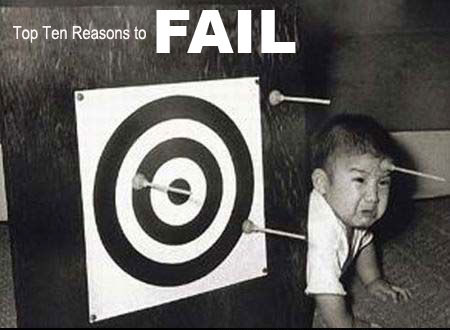 10 Reasons to Fail